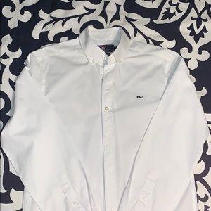 Vineyard Vines Mens White Whale Dress Shirt (sz S)